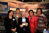 NO REPRO FEE: 27.1.12: Minister of State at the Department of Tourism, Michael Ring TD, officially opens the Holiday World Show Dublin at the RDS Simmonscourt. The Show runs until 5.30pm on Sunday 29th January.  Picture Collins Photos.