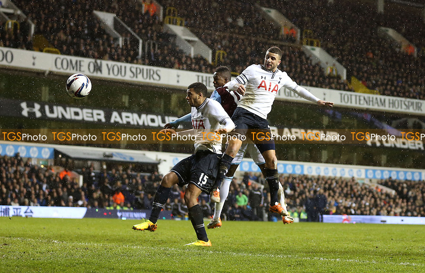 Modibo Maiga scores the 2nd goal for West Ham - Tottenham Hotspur vs West Ham United, Capital One Cup Quarter Final at White Hart Lane, Tottenham - 18/12/13 - MANDATORY CREDIT: Rob Newell/TGSPHOTO - Self billing applies where appropriate - 0845 094 6026 - contact@tgsphoto.co.uk - NO UNPAID USE
