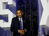 United States President Barack Obama participates in a panel discussion on climate change as part of the White House South by South Lawn (SXSL) event about the importance of protecting the one planet we&rsquo;ve got for future generations, on the South Lawn of the White House, Washington DC, October 3, 2016. <br /> Credit: Aude Guerrucci / Pool via CNP /MediaPunch