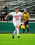 12 September 2010: Cornell University Big Red forward Daniel Haber, a Freshman from Toronto, Ontario, in action against the University of Vermont Catamounts at Centennial Field in Burlington, Vermont. The Catamounts edged out the Big Red 2-1. Mandatory Credit: Ed Wolfstein Photo