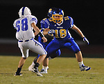 Oxford High's Hunter McCullough (18) vs. Senatobia in high school football in Oxford, Miss. on Friday, September 9, 2011. Oxford won 40-20.