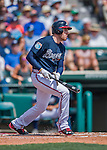 14 March 2016: Atlanta Braves first baseman Freddie Freeman in action during a Spring Training pre-season game against the Tampa Bay Rays at Champion Stadium in the ESPN Wide World of Sports Complex in Kissimmee, Florida. The Braves shut out the Rays 5-0 in Grapefruit League play. Mandatory Credit: Ed Wolfstein Photo *** RAW (NEF) Image File Available ***