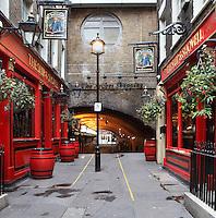 London Victorian pub Ship & Shovell, Craven Passage, Charing Cross, London, UK. Picture by Manuel Cohen