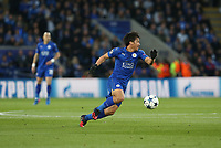 Leicester City's Shinji Okazaki <br /> <br /> Photographer Stephen White/CameraSport<br /> <br /> UEFA Champions League Quarter Final Second Leg - Leicester City v Atletico Madrid - Tuesday 18th April 2017 - King Power Stadium - Leicester <br /> <br /> World Copyright &copy; 2017 CameraSport. All rights reserved. 43 Linden Ave. Countesthorpe. Leicester. England. LE8 5PG - Tel: +44 (0) 116 277 4147 - admin@camerasport.com - www.camerasport.com