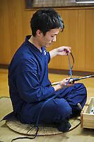 Bizen Osafune Sword Museum. Making swords.