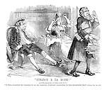 """""""Finance a la Mode!"""" (After Hogarth - a very long way.) """"It will scarecely be possible to go on carrying forward liabilities in this indefinate way."""" - Times, Oct. 1st 1879"""