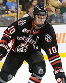 Steve Quailer (Northeastern - 10) - The Boston College Eagles defeated the Northeastern University Huskies 5-4 in their Hockey East Semi-Final on Friday, March 18, 2011, at TD Garden in Boston, Massachusetts.