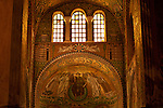 Mosaics in the Basilica of San Vitale in Ravenna, Italy.
