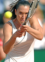 Rome, Italy - May 18, 2008 Jelena Jankovic of Serbia plays against Alize Cornet of France to win the women's singles title of Internazionali BNL d'Italia tennis tournament at the Foro Italico.