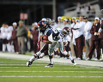 Ole Miss wide receiver Ja-Mes Logan (85) makes a catch vs. Texas A&amp;M defensive back Tramain Jacobs (7) in Oxford, Miss. on Saturday, October 6, 2012. Texas A&amp;M won 30-27...