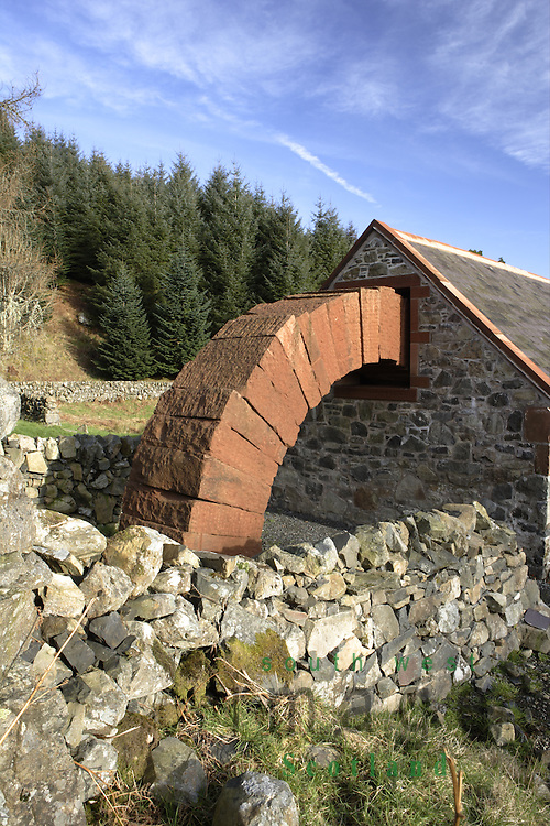 Andy Goldsworthys Striding Arches sculptures Cairnhead ...