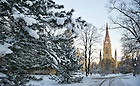 Jan. 24, 2013; Basilica on a winter morning..Photo by Matt Cashore/University of Notre Dame