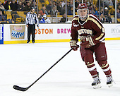 Teddy Doherty (BC - 4) - The Boston College Eagles defeated the Harvard University Crimson 4-1 in the opening round of the 2013 Beanpot tournament on Monday, February 4, 2013, at TD Garden in Boston, Massachusetts.