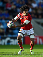 Hale T Pole of Tonga in possession. Rugby World Cup Pool C match between Tonga and Namibia on September 29, 2015 at Sandy Park in Exeter, England. Photo by: Patrick Khachfe / Onside Images