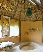 Each shower room has a stone floor and is supplied with water from a traditional safari drum, which is filled by hand to the temperature preferred by each guest