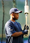 4 September 2009: Cleveland Indians' second baseman Luis Valbuena awaits his turn in the batting cage prior to a game against the Minnesota Twins at Progressive Field in Cleveland, Ohio. The Indians defeated the Twins 5-2 to take the first game of their three-game weekend series. Mandatory Credit: Ed Wolfstein Photo