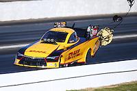 May 14, 2016; Commerce, GA, USA; NHRA funny car driver Del Worsham during qualifying for the Southern Nationals at Atlanta Dragway. Mandatory Credit: Mark J. Rebilas-USA TODAY Sports
