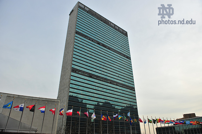 United Nations headquarters, New York City..Photo by Matt Cashore/University of Notre Dame