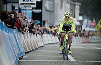 Scheldeprijs 2012..Kevin Hulsmans pulled lead the longest over the race