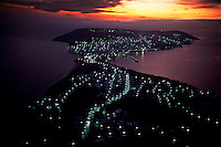 Aerial of Sinop Turkey... This was the most important port for the ancient Greeks... The mythical Jasons of Jason and the Argonauts.