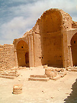 The south Church, Shivta (Sobota) is an archeological site in the Negev Desert of Israel, 49 Km southwest of beer sheva, east to Nizzana (Nitsana). Long considered a classic Nabatean town and terminal on the ancient spice route, archeologists are now considering the possibility that the town was actually a Byzantine agricultural colony and a way station for pilgrims en route to the Santa Catarina, Egypt, located on the supposed site of Mount Sinai. The new assessment of Shivta is based on an analysis of the irrigation system found at the site, which bears parallels to Byzantine structures elsewhere. Until now, the preponderance of Byzantine ruins were believed to be the remains of a monastic community that established itself on the ruins of an earlier Nabatean town. Shivta was declared a world heritage site by UNESCO on June 2005.