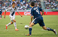 CARSON, CA - June 23, 2012: LA Galaxy midfielder Hector Jimenez (16) during the LA Galaxy vs Vancouver Whitecaps FC match at the Home Depot Center in Carson, California. Final score LA Galaxy 3, Vancouver Whitecaps FC 0.
