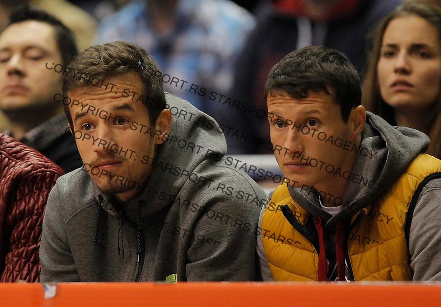 Kosarka ABA League season 2015-2016<br /> Crvena Zvezda v Partizan<br /> Vukasin Jovanovic and Slavoljub Srnic (R)<br /> Beograd, 03.11.2015.<br /> foto: Srdjan Stevanovic/Starsportphoto&copy;