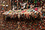 Pike Place market with close-ups of gum wall down alley in Post Alley Seattle Washington State