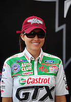 Nov. 2, 2008; Las Vegas, NV, USA: NHRA funny car driver Ashley Force during the Las Vegas Nationals at The Strip in Las Vegas. Mandatory Credit: Mark J. Rebilas-