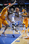 UK's DeAndre Liggins driving to the basket during the first half of the University of Kentucky Men's basketball game against Tennessee at Rupp Arena in Lexington, Ky., on 2/8/11. Uk led at half 35-28. Photo by Mike Weaver | Staff