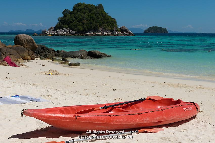 Red Kayak On Sunrise Beach, Koh Lipe, Thailand