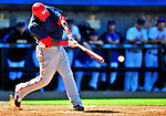 7 March 2010: Washington Nationals' outfielder Elijah Dukes at bat during a Spring Training game against the New York Mets at Tradition Field in Port St. Lucie, Florida. The Mets edged out the Nationals 6-5 in Grapefruit League pre-season play. Mandatory Credit: Ed Wolfstein Photo