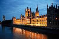 Houses of Parliament in the evening