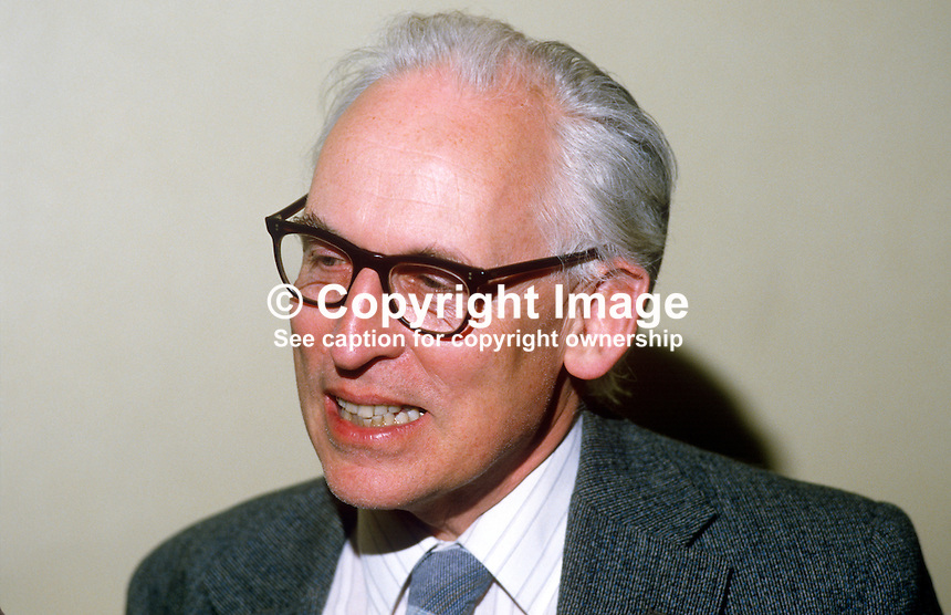 Professor John Whyte, politics lecturer, Queen's University, Belfast, 19840065JW1..Copyright Image from Victor Patterson, 54 Dorchester Park, Belfast, UK, BT9 6RJ..Tel: +44 28 9066 1296.Mob: +44 7802 353836.Voicemail +44 20 8816 7153.Skype: victorpattersonbelfast.Email: victorpatterson@me.com.Email: victorpatterson@ireland.com (back-up)..IMPORTANT: If you wish to use this image or any other of my images please go to www.victorpatterson.com and click on the Terms & Conditions. Then contact me by email or phone with the reference number(s) of the image(s) concerned.