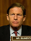 United States Senator Richard Blumenthal (Democrat of Connecticut) listens as General John R. Allen, USMC, Commander, International Security Assistance Force and Commander, United States Forces Afghanistan, testifies on the situation in Afghanistan before the U.S. Senate Armed Services Committee on Capitol Hill in Washington, D.C. on Thursday, March 22, 2012..Credit: Ron Sachs / CNP