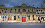 Oamaru.Oamaru, the largest town in North Otago, in the South Island of New Zealand, is the main town in the Waitaki District. It is 80 kilometres south of Timaru and 120 kilometres north of Dunedin, on the Pacific  coast, and State Highway 1