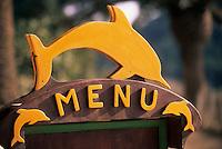Europe/Provence-Alpes-Côte d'Azur/83/Var/Ile de Port-Cros/Parc National: Détail d'un porte-menu