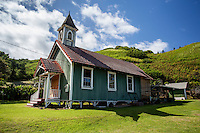 The Kahakuloa Congregational Church in Old Kahakuloa Village, Maui.