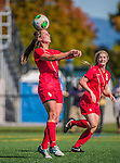 29 September 2013: Stony Brook University Seawolves Forward Larissa Nysch, a Senior from Dresher, PA, in action against the University of Vermont Catamounts at Virtue Field in Burlington, Vermont. The Lady Seawolves defeated the Catamounts 2-1 in America East play. Mandatory Credit: Ed Wolfstein Photo *** RAW (NEF) Image File Available ***