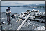 Two guys. And a dog waiting &ndash; for someone to throw the darn stick. #dailylife (Ediz Hook, Port Angeles WA)<br />