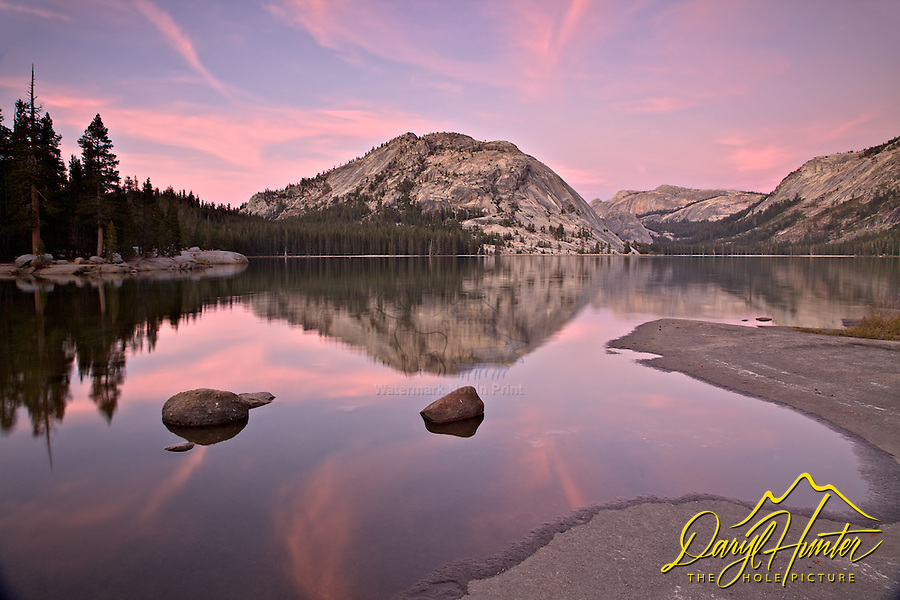 Tenaya Lake, sunset, Tenaya Dome, reflection, Yosemite National Park