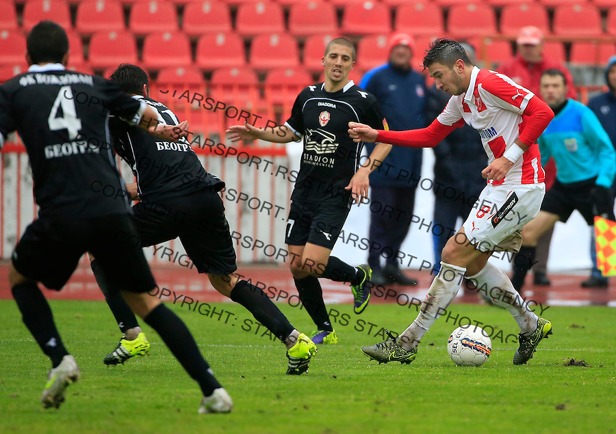 Fudbal Jelen Super League season 2015-2016<br /> Crvena Zvezda v Vozdovac<br /> Marko Grujic (R)<br /> Beograd, 28.11.2015.<br /> foto: Srdjan Stevanovic/Starsportphoto&copy;