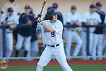 Ole Miss' Auston Bousfield (9)  vs. Arkansas State in baseball action at Oxford-University Stadium in Oxford, Miss. on Tuesday, February 21, 2012. Ole Miss won the home opener 8-1 to improve to 2-1 on the season. Arkansas State dropped to 0-3.