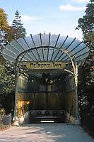 Hector Guimard: Port Dauphine Metro, Paris.