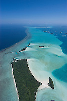 Aerial view of the outer reef in Palau,Micronesia, this is the diving area of Blue Hole and Blue Corner