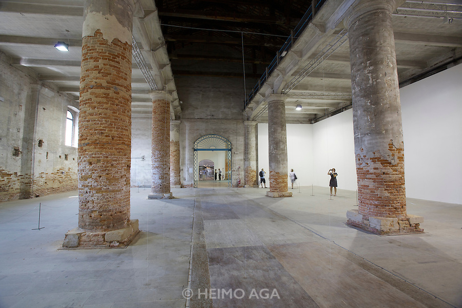 """12th Biennale of Architecture. Corderie dell'Arsenale. """"Architecture as air: Study for cha?teau la coste"""", 2010 by junya.ishigami+associates, Japan. Golden Lion of the best project of the Exhibition People meet in architecture."""