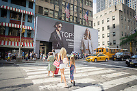 The future home of the new Topshop store on Fifth Avenue in Midtown Manhattan in New York on Sunday, July 27, 2014. The new store will be the retailers flagship U.S. store at 40,000 square feet with a planned opening in the Fall of 2014. Topshop and Topman, it's male counterpart, is a mass-market fashion retailer and the largest private clothing retailer in the United Kingdom with over 300 stores.  (© Richard B. Levine)
