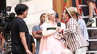 NEW YORK, NY-July 16: Bong Joon-Ho, Jake Gyllenhaal, Tida Swinton shooting on location for Netflix & Plan B Enterainment  film Okja in New York. NY July 16, 2016. Credit:RW/MediaPunch