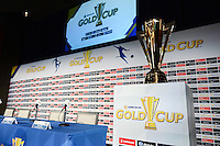 Santa Clara, CA - Tuesday, March 07, 2017: Gold Cup Trophy during the unveiling of the CONCACAF 2017 Gold Cup Groups & Schedule at Levi's Stadium.