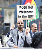 Protests outside Downing Street as Narendra Damodardas Modi Prime Minister of India, arrives for a state visit to England <br /> 12th November 2015 <br /> <br /> <br /> <br /> Photograph by Elliott Franks <br /> Image licensed to Elliott Franks Photography Services